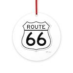 route 66 6 Round Ornament
