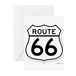 route 66 6 Greeting Cards