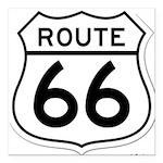 route 66 6 Square Car Magnet 3