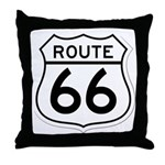 route 66 6 Throw Pillow