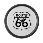 route 66 6 Large Wall Clock