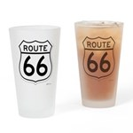 route 66 6 Drinking Glass
