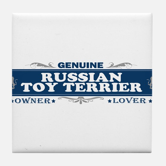 RUSSIAN TOY TERRIER Tile Coaster