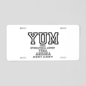 AIRPORT CODES - YUM - YUMA, Aluminum License Plate