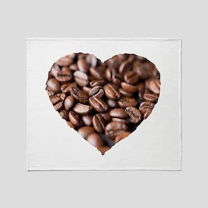 I LOVE Coffee! Throw Blanket