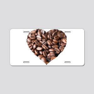 I LOVE Coffee! Aluminum License Plate