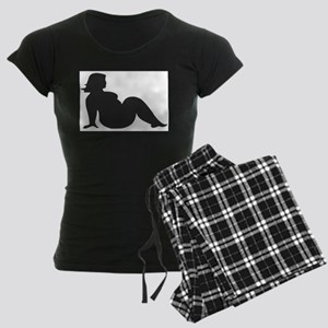 Thick Chick Funny Sexy Girl Women's Dark Pajamas