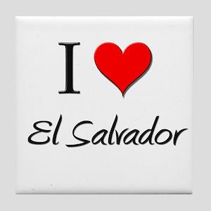 I Love El Salvador Tile Coaster