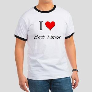 I Love East Timor Ringer T