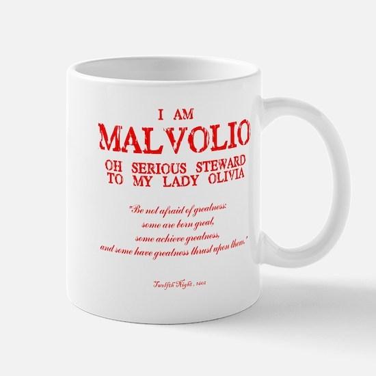Malvolio (red) Mugs