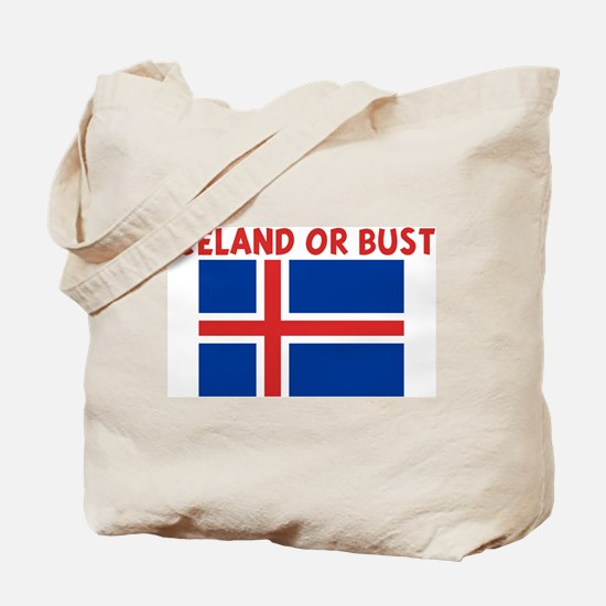 ICELAND OR BUST Tote Bag