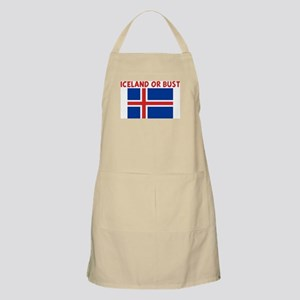 ICELAND OR BUST BBQ Apron