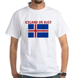 Iceland or bust Mens Classic White T-Shirts