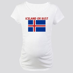 ICELAND OR BUST Maternity T-Shirt