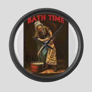 Bath Time Vintage Boy at Tub Large Wall Clock