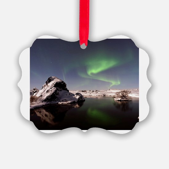 Cute Aurora borealis Ornament