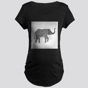 Indian Elephant Maternity Dark T-Shirt