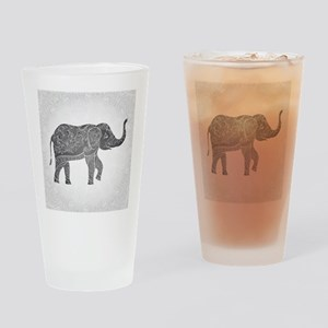 Indian Elephant Drinking Glass