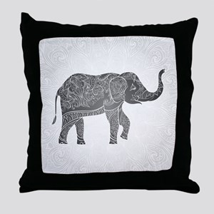 Indian Elephant Throw Pillow