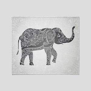 Indian Elephant Throw Blanket