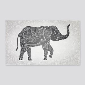 Indian Elephant Area Rug