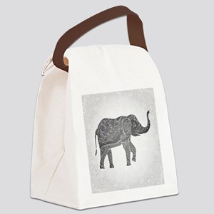 Indian Elephant Canvas Lunch Bag
