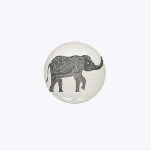 Indian Elephant Mini Button