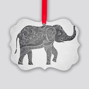 Indian Elephant Picture Ornament