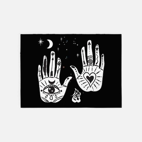 Mystic Hands 5'x7'Area Rug