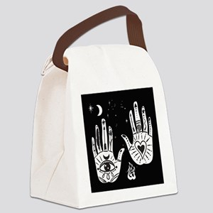 Mystic Hands Canvas Lunch Bag