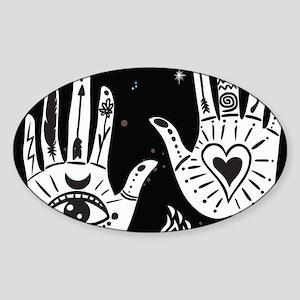Mystic Hands Sticker (Oval)