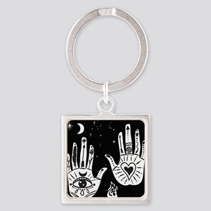 Mystic Hands Square Keychain