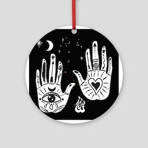 Mystic Hands Round Ornament