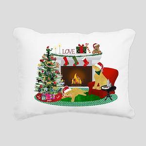 Waiting For Santa Rectangular Canvas Pillow