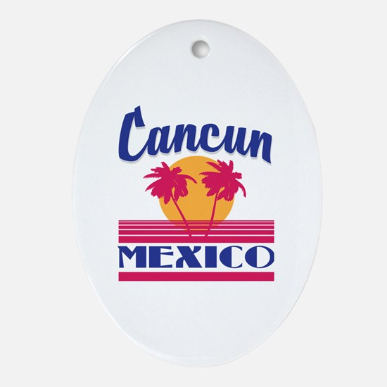 Cute Cancun Oval Ornament