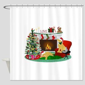 Waiting For Santa Shower Curtain