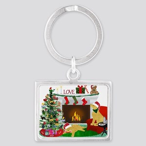 Waiting For Santa Keychains