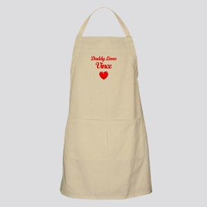 Daddy Loves Vince  BBQ Apron