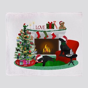 Waiting For Santa Throw Blanket