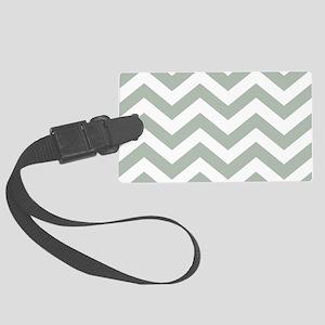 Chevron Zig Zag Pattern: Sage Gr Large Luggage Tag