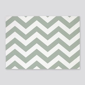 Chevron Zig Zag Pattern: Sage Green 5'x7'Area Rug
