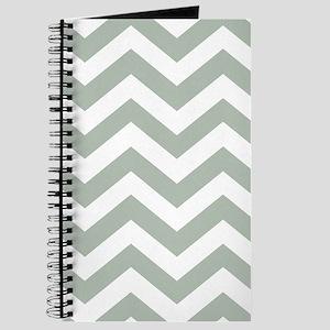 Chevron Zig Zag Pattern: Sage Green Journal