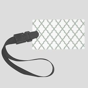 Moroccan Quatrefoil Pattern: Sag Large Luggage Tag