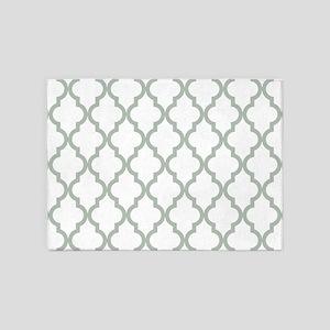 Moroccan Quatrefoil Pattern: Sage G 5'x7'Area Rug