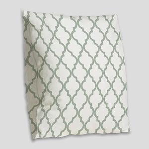 Moroccan Quatrefoil Pattern: S Burlap Throw Pillow