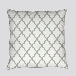Moroccan Quatrefoil Pattern: Sage Everyday Pillow