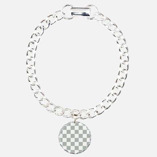Checkered Pattern: Sage Bracelet