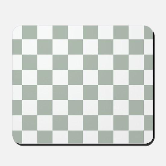 Checkered Pattern: Sage Green Mousepad