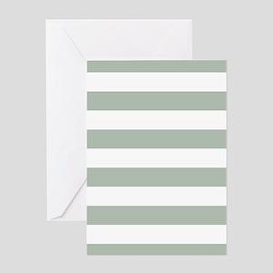 Horizontal Stripes: Sage Green Greeting Card