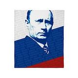 Putin Fleece Blankets